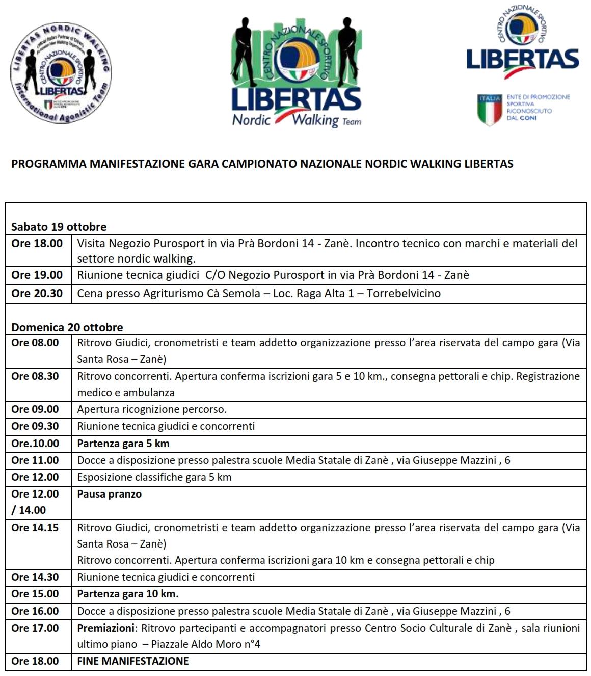 Programma Di Gara Finale Campionato LNWA